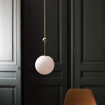 Polished Brass Rod Pendant Light