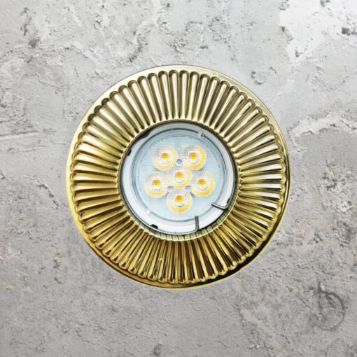 Polished Brass Round Recessed Downlight