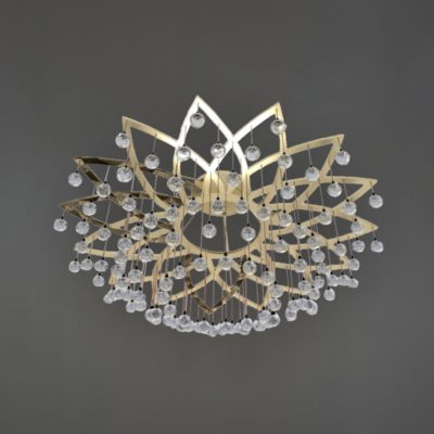 Polished Brass Semi Flush Flower Feature Light