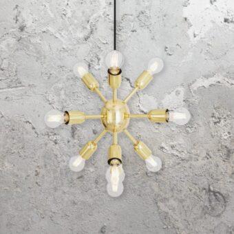 Polished Brass Sputnik Chandelier