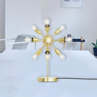 Polished Brass Sputnik Table Lamp