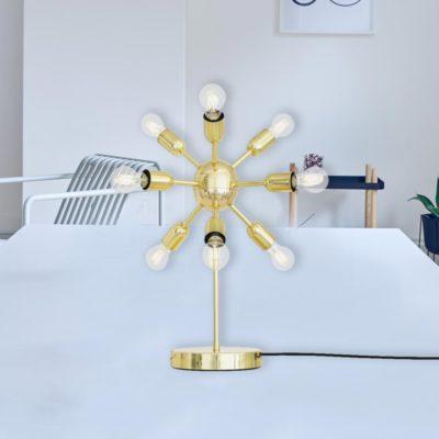 Polished Brass Sputnik Table Lamp