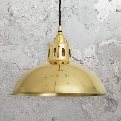 Polished Brass Vintage Dome Pendant Light