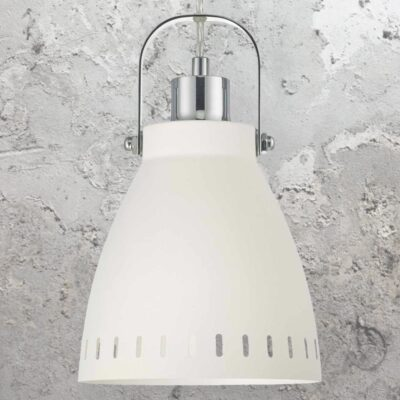 Polished Chrome White Pendant Light