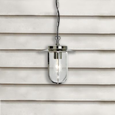 Polished Nickel Exterior Pendant Light