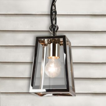 Polished Nickel Outdoor Pendant Light