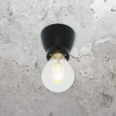 Black Porcelain Ceiling Light,Black Ceramic Ceiling Light