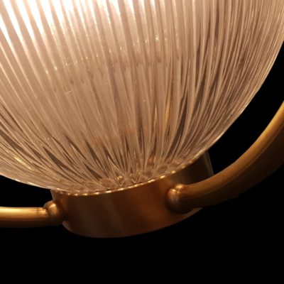 Prismatic Glass Orb Pendant Light