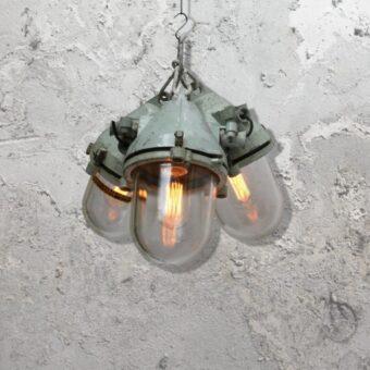 Reclaimed Cluster Glass Pendant