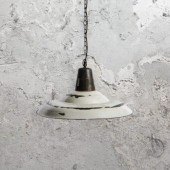 Reclaimed Distressed White Pendant Light