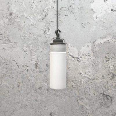 Reclaimed Frosted Glass Pendant Light