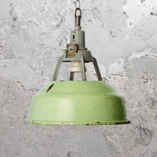 Reclaimed Green Factory Pendant