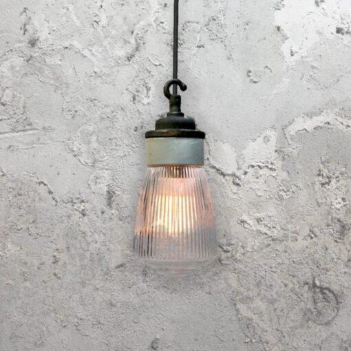 Reclaimed Porcelain Prismatic Glass Pendant Light