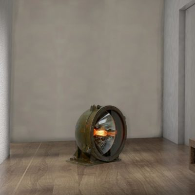Reclaimed Tank Floor Lamp