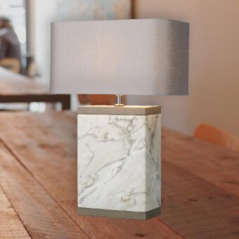 Rectangular Marble Base Table Lamp