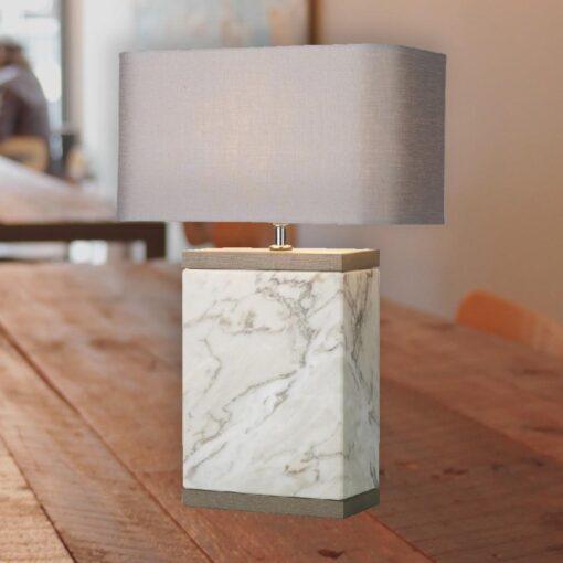 Rectangular Marble Base Table Lamp