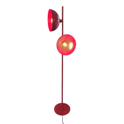 Red 2 Light Retro Floor Lamp