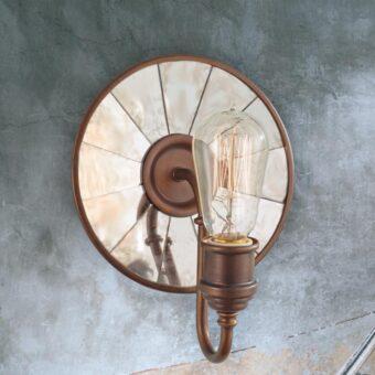 Reflective Bronze Wall Light