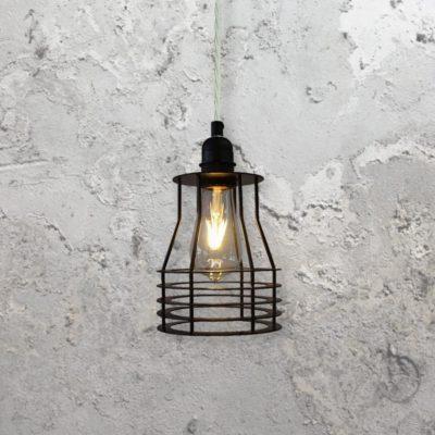 Flat Cage Pendant Light