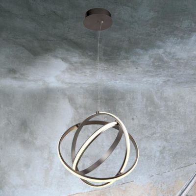 Gyro LED Pendant, 3 LED Ring Pendant Light