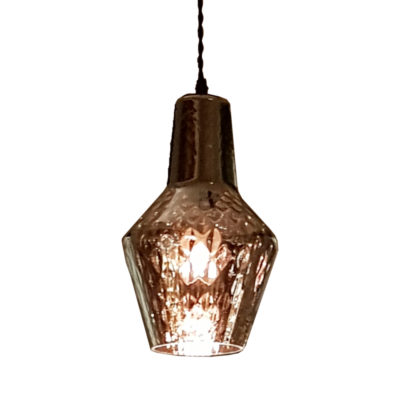 Rippled Smoked Glass Pendant Light