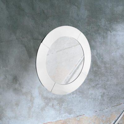 modern roundbevelled wall mirror