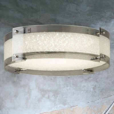 Round Crystal Glass LED Flush Fitting