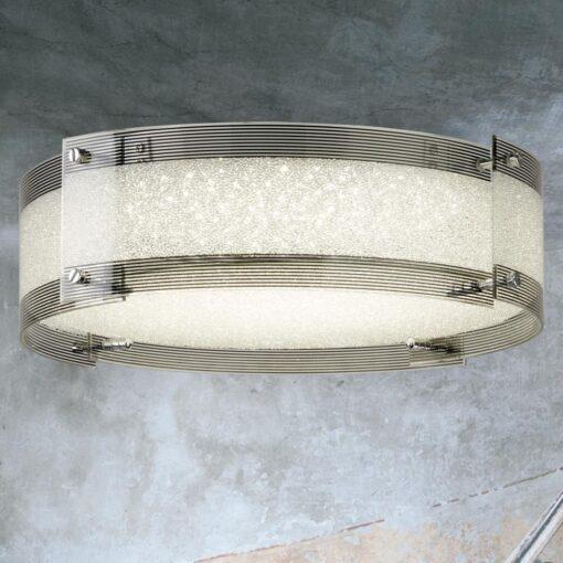 Round Crystal Glass LED Flush Fitting