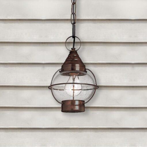 bronze Round Exterior Glass Lantern