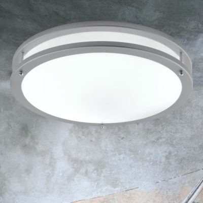 Round Grey LED Flush Fitting