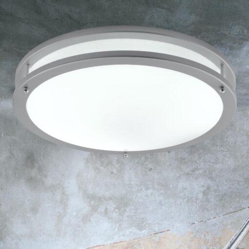 Round Grey LED Flush Fitting