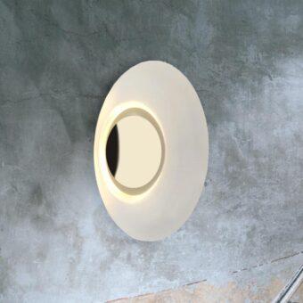 Gold Round Modern Wall Light