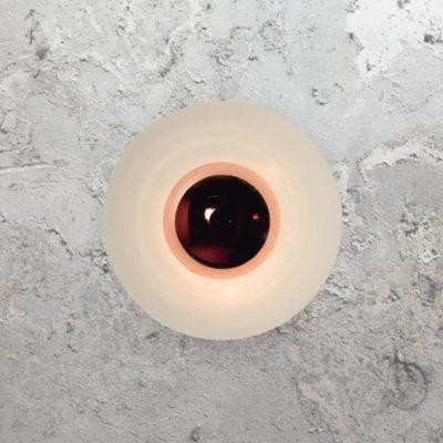 Copper Round Modern Wall Light