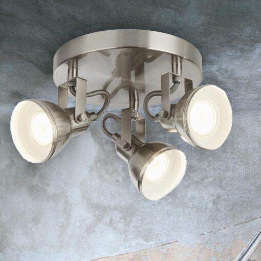 Round Plate 3 Light Ceiling Spotlight