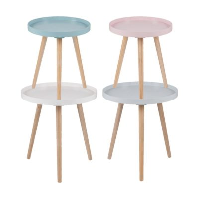 Round Small Pine Tables