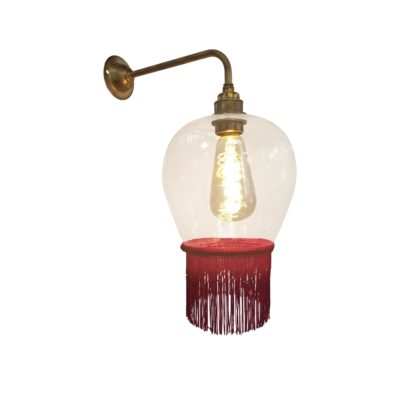 Ruby Red Fringe Glass Wall Light