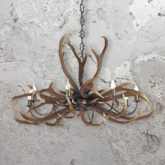 Rustic 8 Light Antler Chandelier