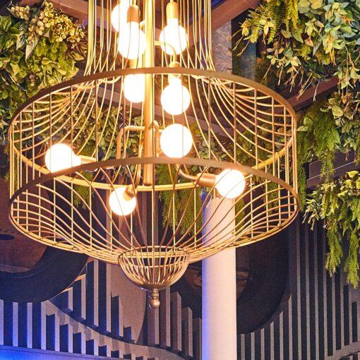 Rustic Birdcage Chandelier Feature Light