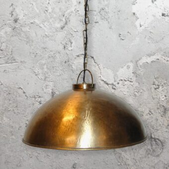 Rustic Brass Pendant Light
