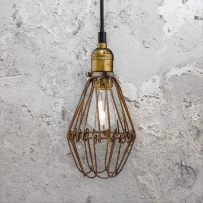 Rustic Cage Pendant Light