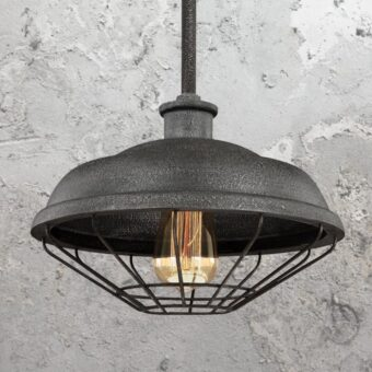 Rustic Grey Cage Pendant Light