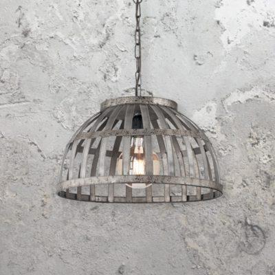 Rustic Iron Cage Pendant Light