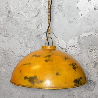 Rustic Large Yellow Pendant Light