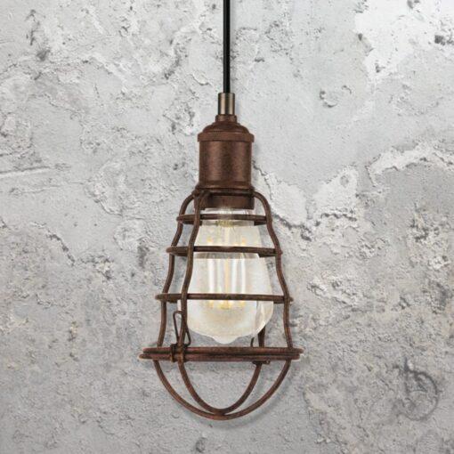 Rusty Cage Pendant Light