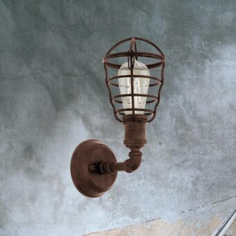 Rusty Cage Wall Light