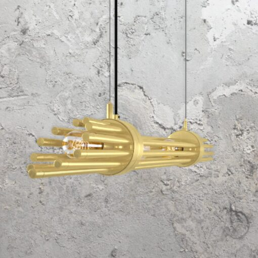 Satin Brass Contemporary Linear Chandelier
