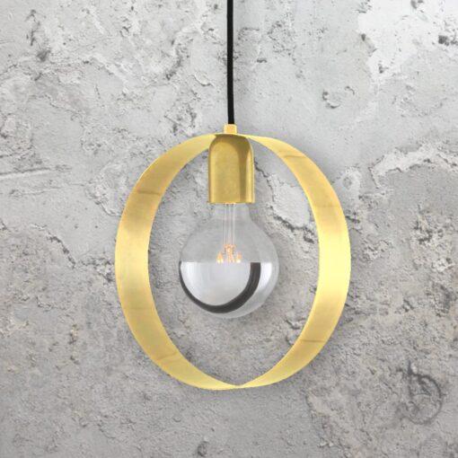 tin Brass Industrial Ring Pendant Light