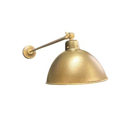 Industrial Satin Brass Long Arm Wall Light