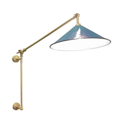 Satin Brass Navy Coolie Enamel Wall Light