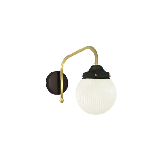 Satin Brass Prismatic Globe Wall Light